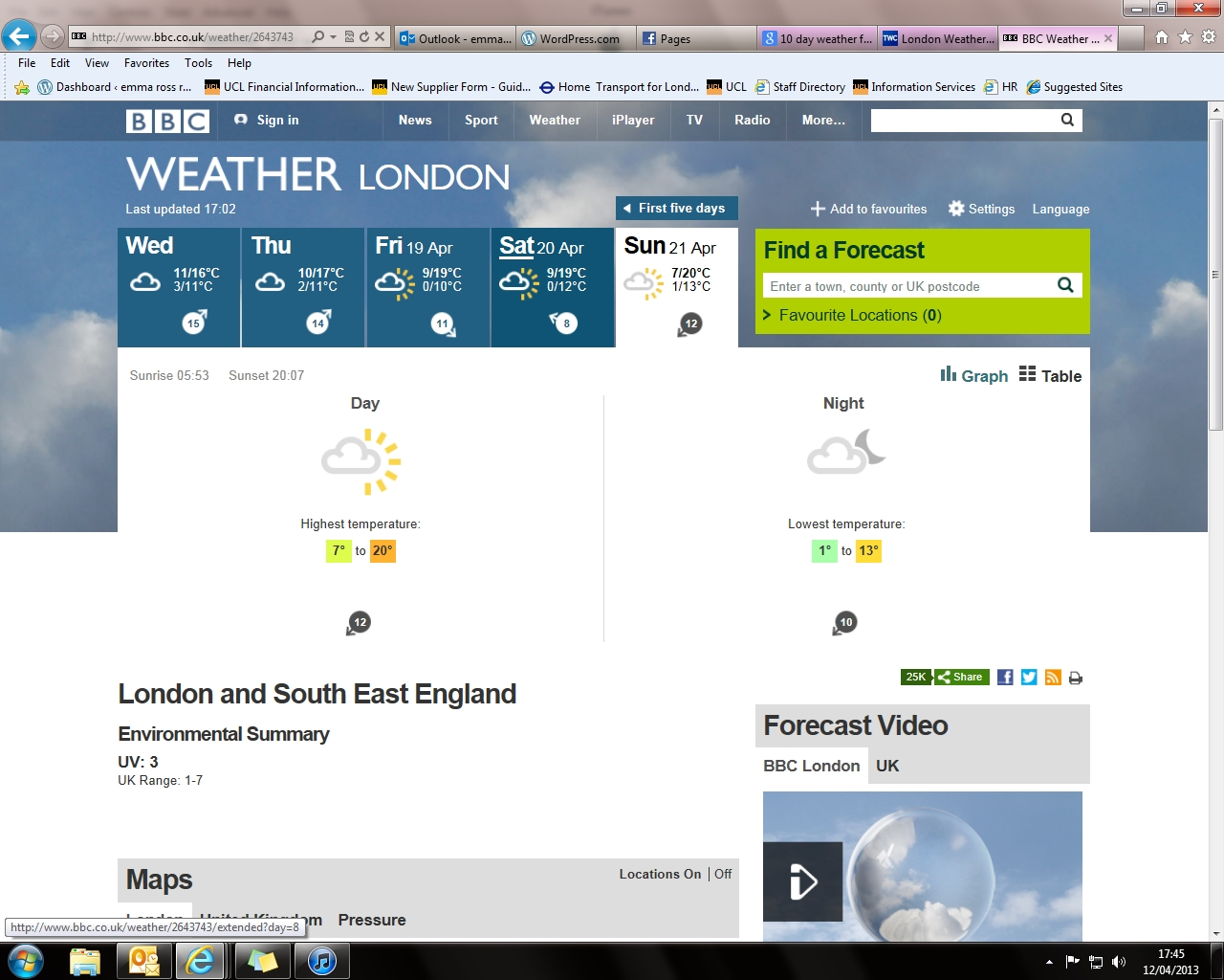 10 day weather forecasts……